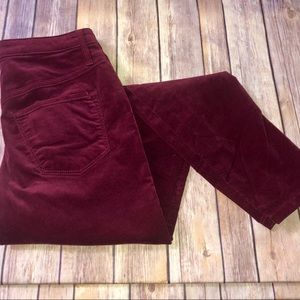 Mossimo Denim Burgundy High Rise Jeans, Sz. 24